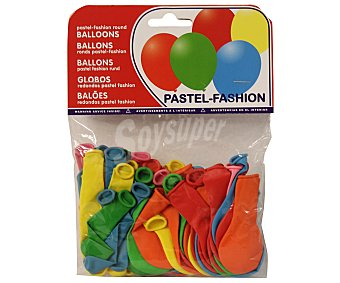 NV CORPORACION Bolsa de 50 globos de colores surtidos Paquete de 50 Unidades