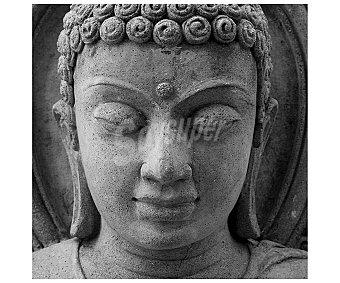 IMAGINE Cuadro con la imagen de la cara de un budda de piedra y dimensiones de 28x28 centímetros Cuadro 28x28