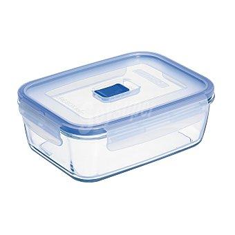 Luminarc Recipiente Hermetico Rectangular de Cristal Pure Box Active - Transparente 0,122 l