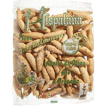 LA HISPALANA Picos dieta mediterránea con aceite de oliva, ajo y orégano bolsa 210 g Bolsa 210 g