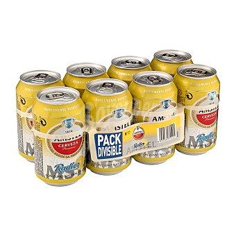 Amstel Cerveza radler con zumo natural de limón Pack 8 lata x 33 cl - 2,64 l