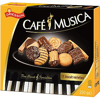 GRIESSON Café y Música Galletas surtidas Paquete 250 g