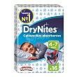 Calzoncillos para niños absorbentes de 4 a 7 años paquete 16 uds DryNites