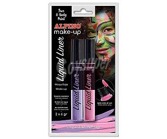 Alpino Maquillaje líquido de color rosa y morado, Liquid Liner alpino 6 g