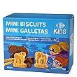 Galletas recubiertas de chocolate y leche Mini Biscuits Carrefour Kids 160 g Carrefour Kids