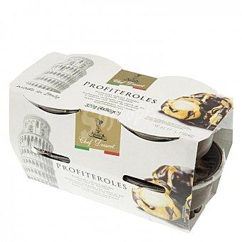 Chef dessert Profiteroles Pack de 4 unidades de 80 g