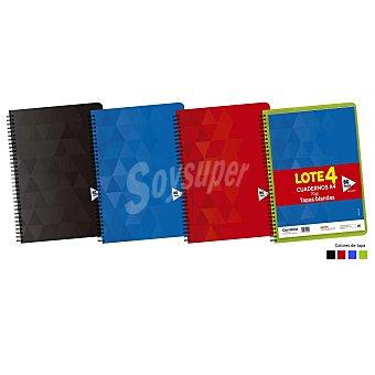 Carrefour Cuadernos A4 80 Hojas Cuadrícula Tapa Blanda 4 ud