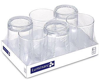 Luminarc s de vidrio con capacidad de 0,30 litros, Essential LUMINARC Pack de 6 vaso