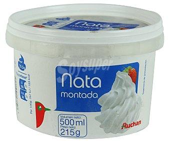Auchan Tarrina de nata montada 500 ml