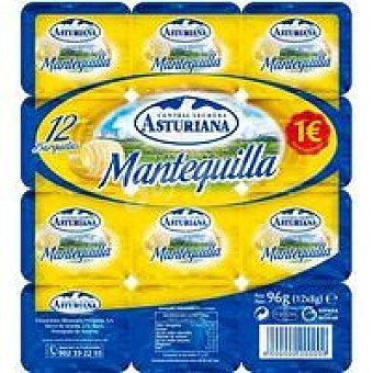 Central Lechera Asturiana Mantequilla en porciones Pack 12x8 g