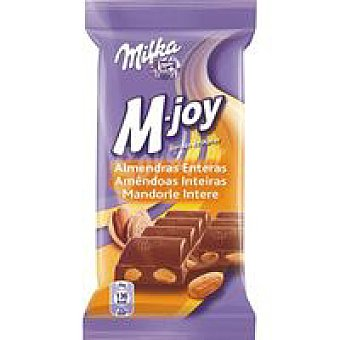 Milka Chocolate M-joy con leche-almendras Tableta 150 g