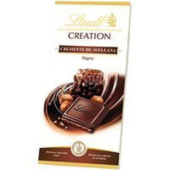 CREATION Chocolate crujiente negro con avellana Tableta 150 g