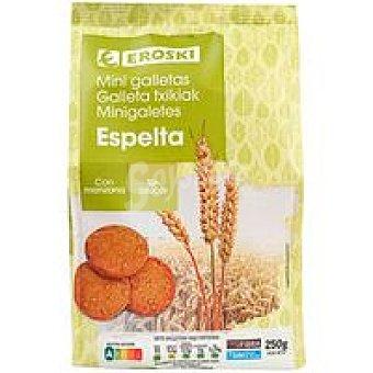 Eroski Mini galletas de espelta-manzana sin azúcar Bolsa 250 g