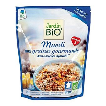 Jardin Bio Muesly sin azúcar en bolsa 375 g