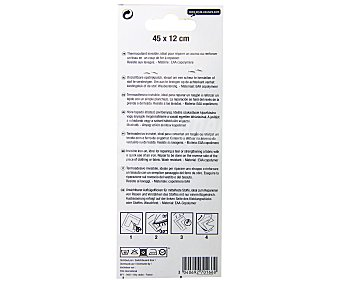STYLE Reparador termoadhesivo para tejidos textiles medianos, transparente, 45x12 centímetros 1 Unidad