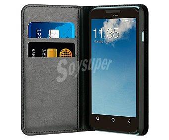 MADE FOR WIKO Funda con tapa muvit Wallet, negra, compatible con Wiko Sunset 2. (teléfono no incluido) 2 funda