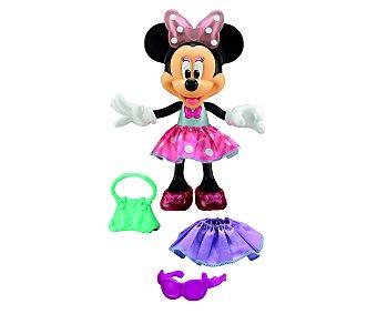 Disney Muñeca interactiva con luces y sonidos Minnie Parlanchina Presumida 1 unidad