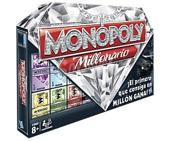 MONOPOLY Juego de Mesa Monopoly Millonario, de 2 a 4 Jugadores 1 Unidad