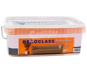 DECOCLASS Pintura Acrílica Decorativa Color Naranja Calabaza, Ambientes 2,5L