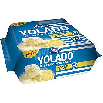 Yolado Danone tu Danone hecho helado yogur y limón Pack 4 unidades 78,25 g