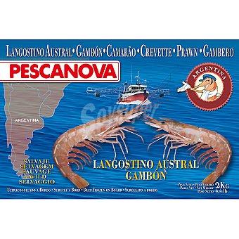 Pescanova Langostino gambón salvaje austral 30-40 piezas Estuche 2 kg