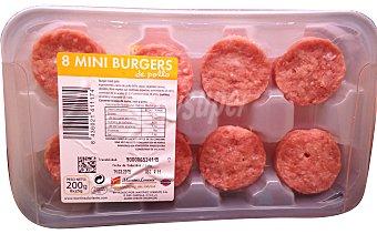 VARIOS Hamburguesa pollo mini burger meat fresco Bandeja 8 u