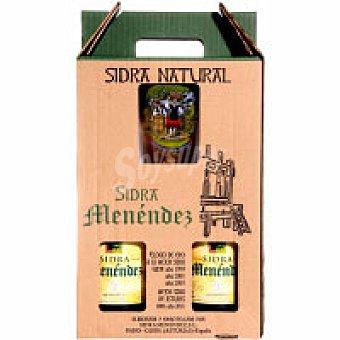 Menéndez Sidra natural asturiana Pack 2x75 cl