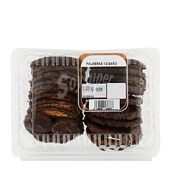 Palmeras con medio baño de chocolate Bandeja de 300 g