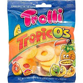 Trolli Tropico's caramelos de goma sabores surtidos sin gluten bolsa 100 g bolsa 100 g