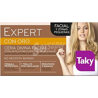 Taky Expert con Oro cera divina facial y pequeñas zonas especial micro-ondas caja 100 g Caja 100 g