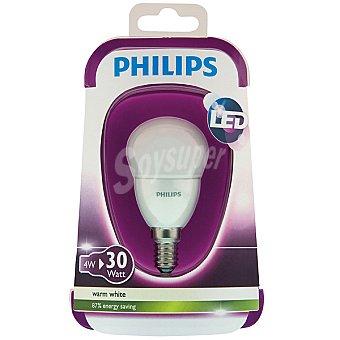 Philips (30 W) lámpara LED blanco cálido casquillo E14 (fino) Esférica Opaca 4 W