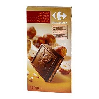 Carrefour Tableta chocolate con leche praliné 150 g