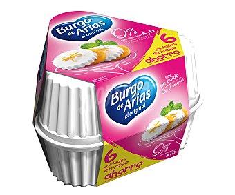 Burgo de Arias Queso fresco 0% Pack 6 envases de 72 g