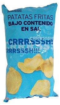 Hacendado Patatas fritas lisas bajas en sal Paquete 130 g