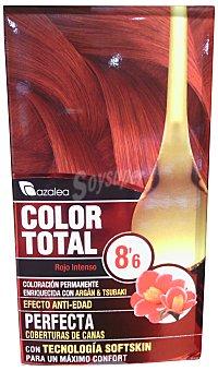 AZALEA Tinte coloración permanente color total n 8.6 rojo intenso (enriquecido con aceite argán y tsubaki) u
