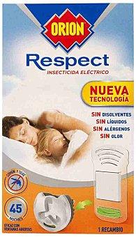 Orion Insecticida volador electrico Respect antimosquitos comun y tigre sin olor recambio 1 unid