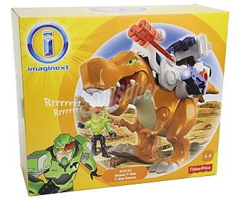 FISHER PRICE Dinosauro t-rex Deluxe con sonidos y lanzador de proyectiles movible, Imaginext 1 unidad