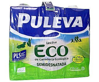 Puleva Leche Semidesnatada Ecológica 6 Unidades de 1 Litro 6x1L