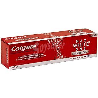 Colgate Pasta dentífrica Max White One Luminous con espuma activa menta brillante tubo 75 ml Tubo 75 ml