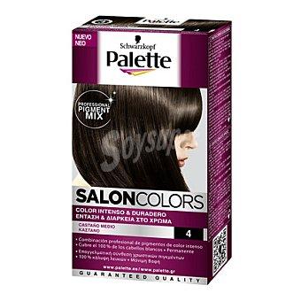 Palette Tinte Salón Colors 4 Castaño Medio 1 ud