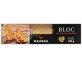 Malvasia Bloc de foie gras de pato especial para untar 100 gr