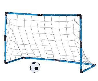 PENALTY ZONE Portería de fútbol portátil metálica, 96x64x42 centímetros, incluye balón 1 unidad