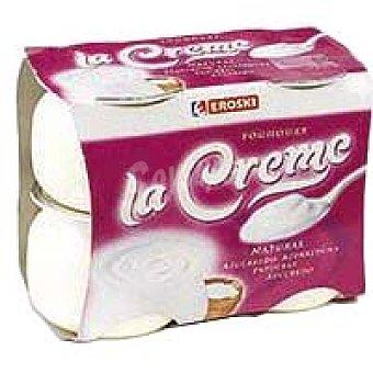 Eroski Yogur cremoso natural La Creme Pack 4x125 g