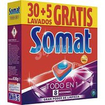 Somat Lavavajillas máquina Todo en 1 Caja 30+5 dosis