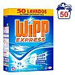 Detergente con quitamanchas en polvo Wipp Express 50 cacitos Wipp Express