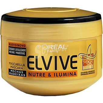 Elvive L'Oréal Paris Mascarilla mechas nutre & ilumina Tarro 300 ml