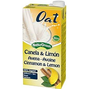 Naturgreen Bebida de avena con canela y limón 100% vegetal Envase 1 l