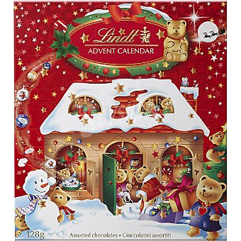 LINDT Osito Teddy calendario de Adviento con chocolates  unidad 128 g