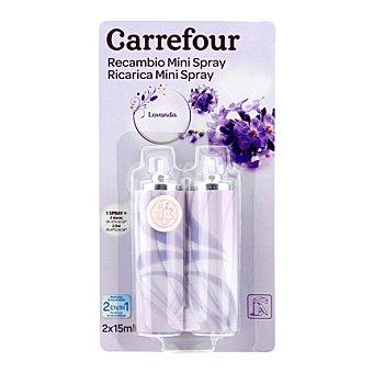 Carrefour Ambientador mini spray Lavanda recambio 2 ud