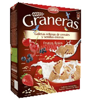 Cuétara Galletas rellenas de frutos rojos Graneras 330 g